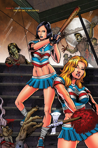 387. Hack Slash meets Zombies vs Cheerleaders #1E