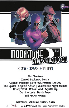 Moonstone Maximum sketch trading cards
